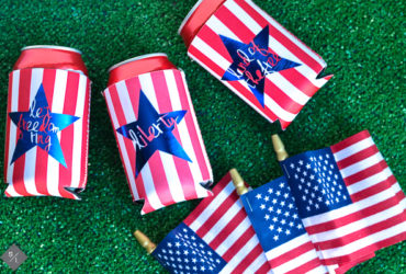 DIY Patriotic Coozies using your Cricut Explore