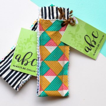 Create your own summer DIY popsicle holders using scrap fabric