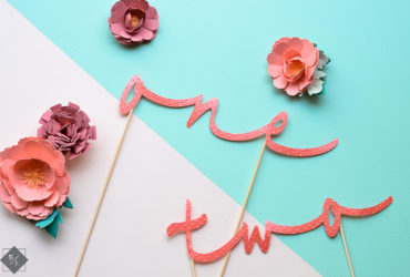 Create your own Table Numbers using your Cricut Explore and Cuttlebug