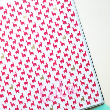 Create a customized binder using vinyl