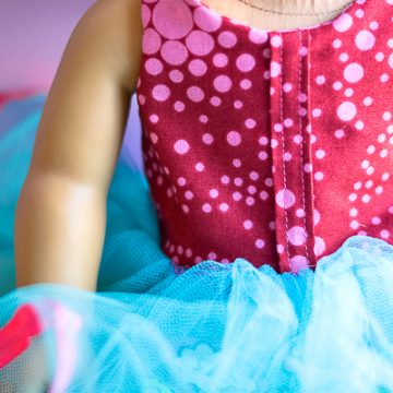 DIY American Girl Doll Birthday Outfit created with the Cricut Maker