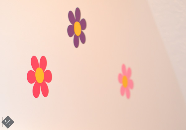 Vinyl daisy flowers
