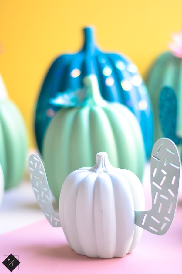 white pumpkin craft