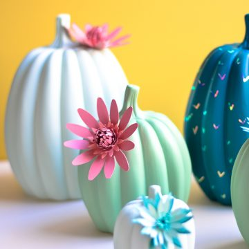 Create your own Cactus Pumpkins using your Cricut Maker and pumpkins from Oriental Trading