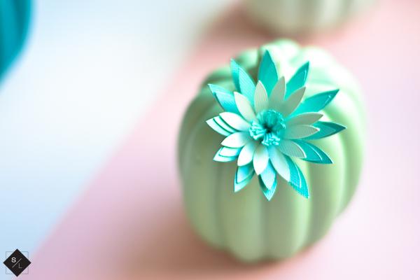 green ceramic pumpkin