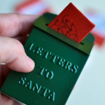 Mini Santa letters to put in your Magnolia ornament. These are the cutest ornaments you've ever seen.