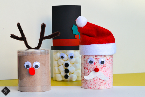 Reindeer, Santa and Snowman Christmas Hot Cocoa Cups