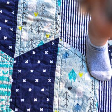 Make a Half Hexi Baby quilt using your Cricut Maker
