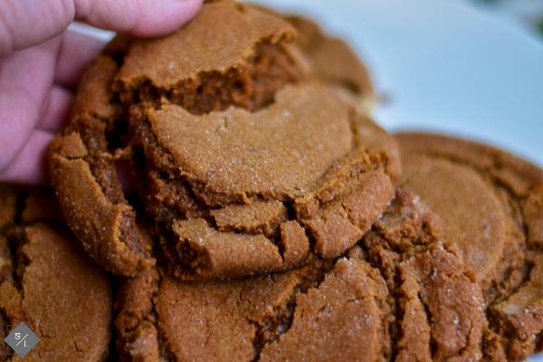 Christmas Molasses Ginger Cookies