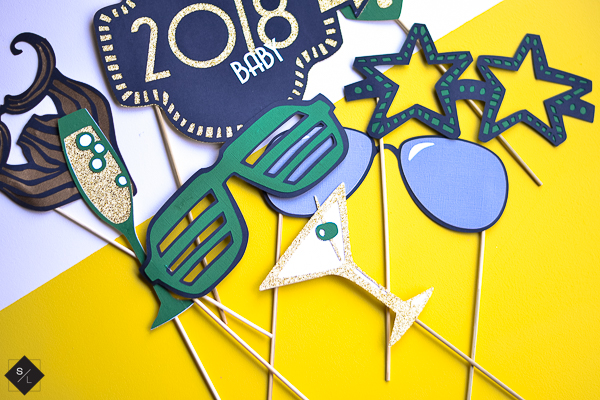New Years Photo Booth Props with your Cricut Maker