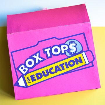 Create this DIY Box Tops Collection Box to add to your schools. Make children excited to be collecting Box Tops. #ad #EarnWithBoxTops #pta