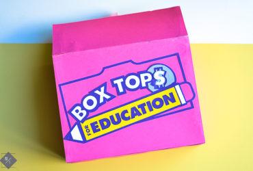 DIY Box Tops Collection Box