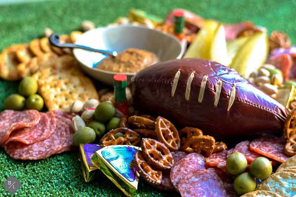 football sausage log