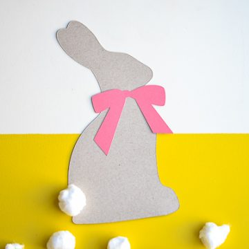 Create this easy Easter bunny craft using your Cricut and a cereal box.