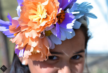 Make a Floral Crown using Crepe Paper Flowers and your Cricut