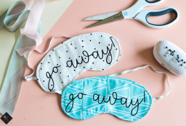 DIY Sleep Mask using your Cricut Maker