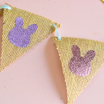 Learn how to make this fun Easter craft using burlap and your Cricut Maker.