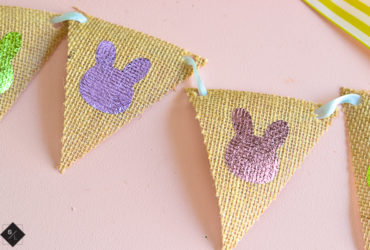 How to Cut Burlap with your Cricut Maker and Make a Fun Easter Banner