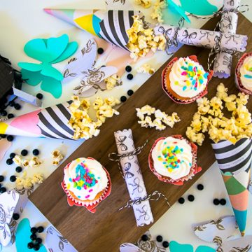 DIY Butterfly Party using scrapbook items from Tuesday Morning. #CricutMade #ad #TuesdayMorning
