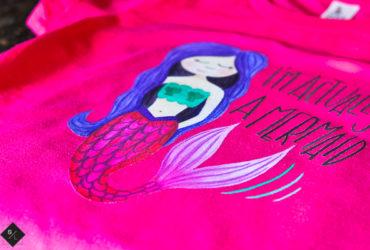 DIY Mermaid Shirt with Cricut Iron-On Designs