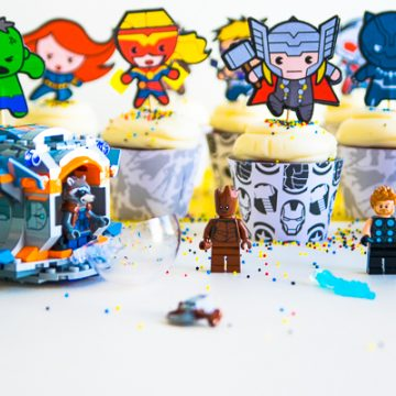 Make these awesome DIY Avengers Cupcake Picks using your Cricut machine. Perfect for an Avengers birthday party or just an Avengers celebrations. #avengers #legos #cricut #cricutmade #birthdayparty