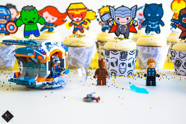 DIY Avengers Cupcake Picks