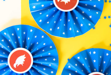 Patriotic Craft with Easy Paper Rosettes