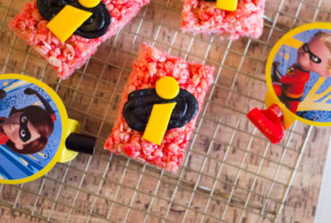 Homemade Disney-Pixar Incredibles Rice Krispie Treats