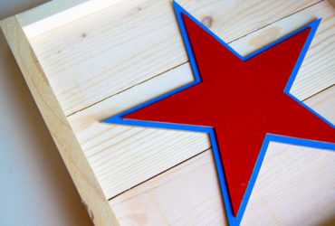 Patriotic Wood Plank Sign using your Cricut Maker Knife Blade