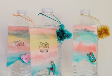 Create a Water Bottle Party Tag for a Llama Party