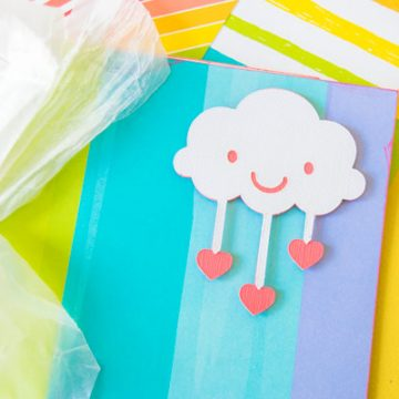 Create the perfect book with your Cricut and Really Rainbows Lawn Fawn Papers. #xyron #scrapbooking #cricutmade #cricut