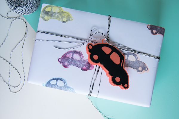 Make Customized Wrapping Paper with Stamps and your Cricut