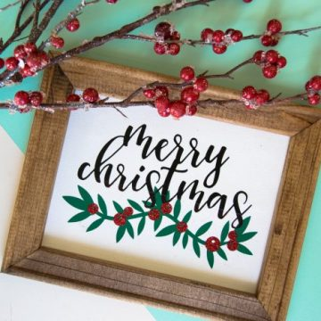 Create the perfect holiday Cricut reverse canvas. Use your iron or your EasyPress to make the best holiday reverse canvas. #cricutmade #cricut