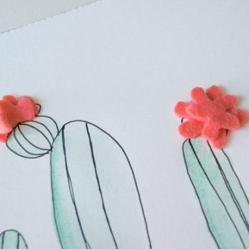 These cactus printables are perfect for home decor. Use some Derwent watercolour pencils and add the perfect dimension to this already great artwork. #CactusPrintables #CactusPrint