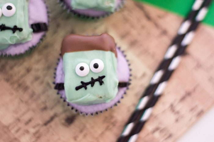 Freaky Frankenstein Cupcakes for Halloween