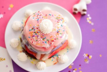 Unicorn Pancakes for a Slumber Party