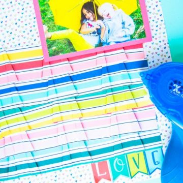 Create stunning scrapbook pages using Photo Play Paper and Xyron adhesive. #scrapbooking #cactuspaper