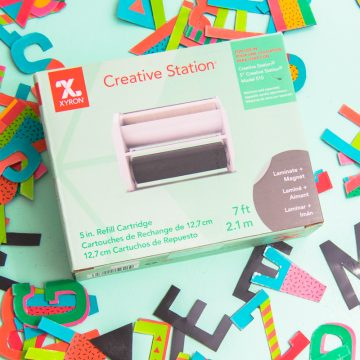 Create your own DIY Alphabet Magnets using the Xyron Creative Station.