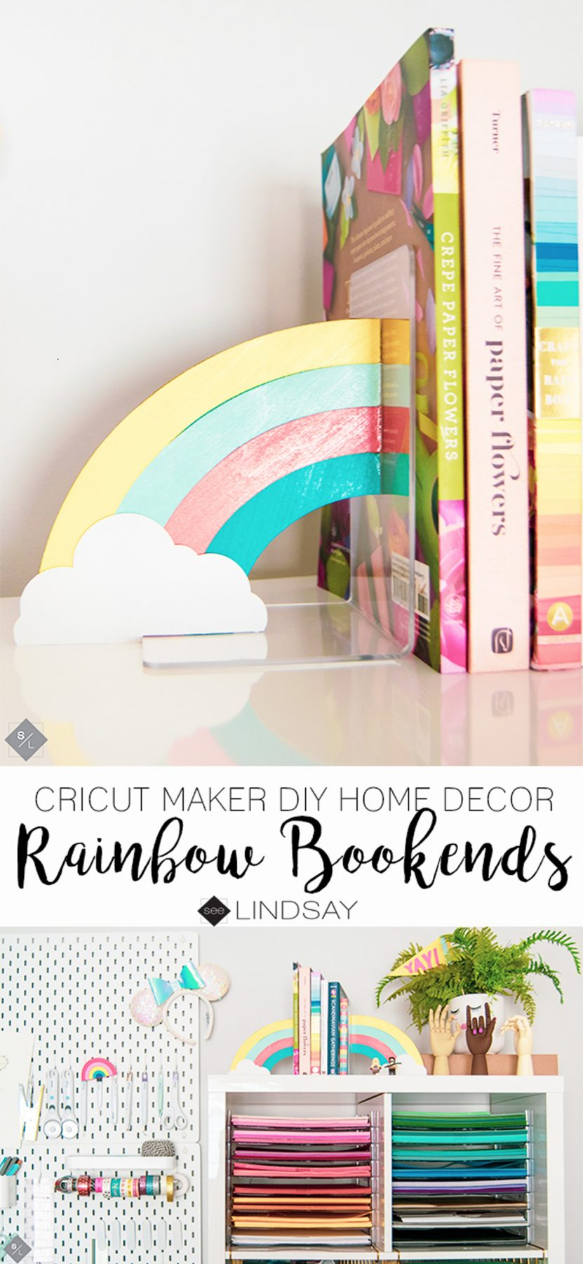 Create These Perfect Rainbow DIY Bookends Using Your Knife Blade On Cricut Maker