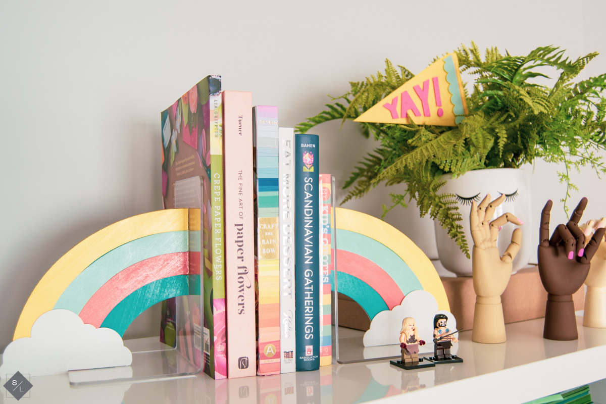 Rainbow DIY Bookends with your Cricut Maker