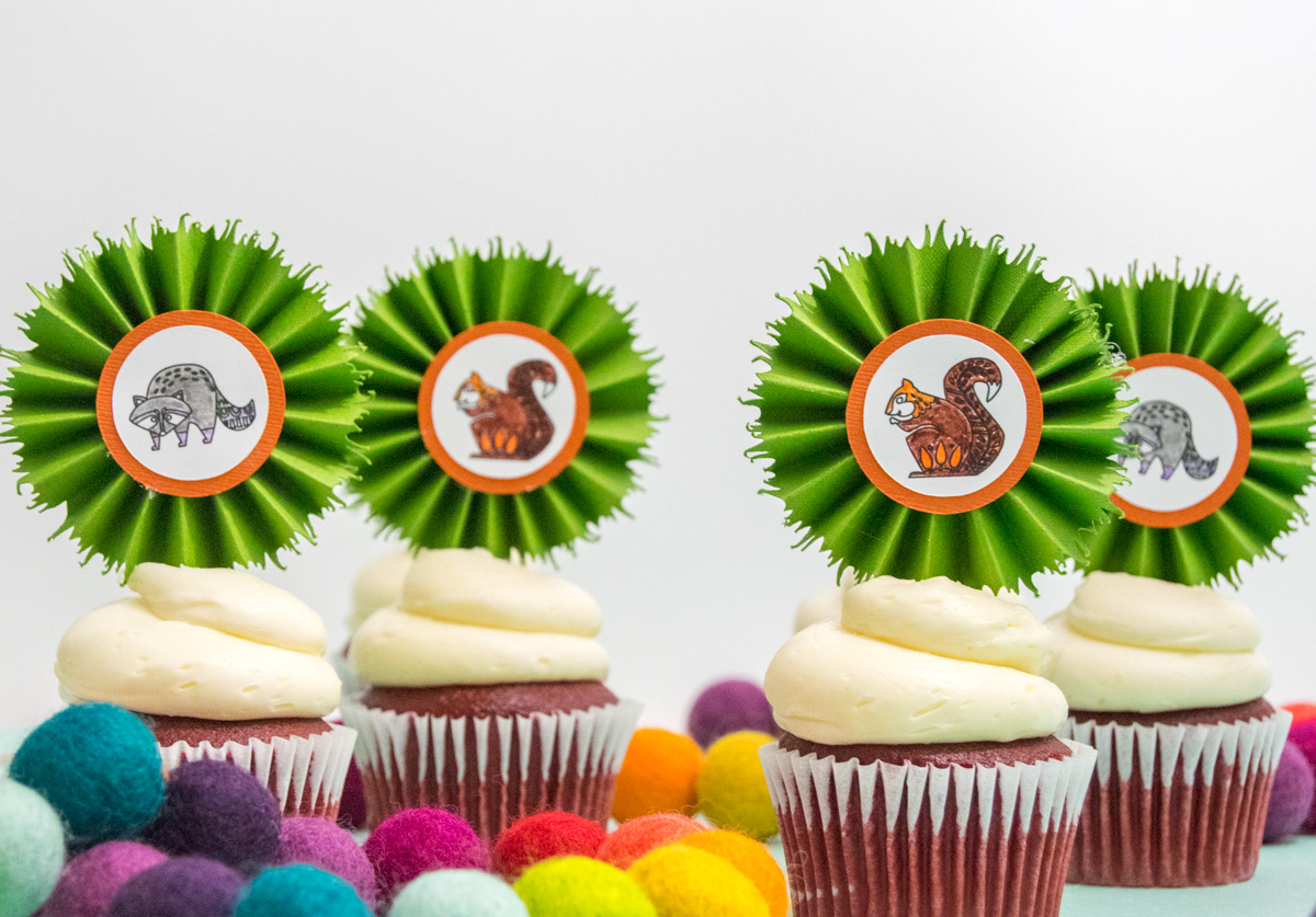 DIY Cupcake Toppers for a Woodland Party