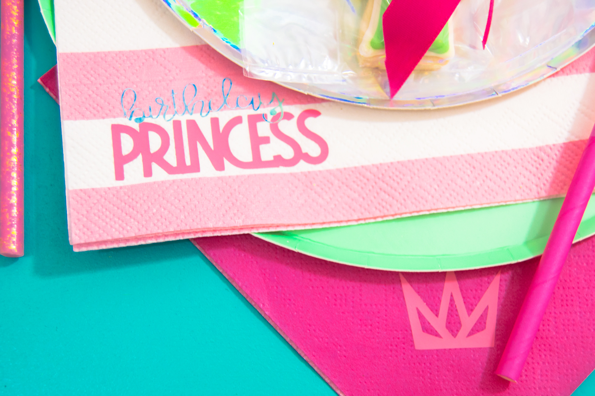 DIY Custom Printed Napkins to Match Your Party!