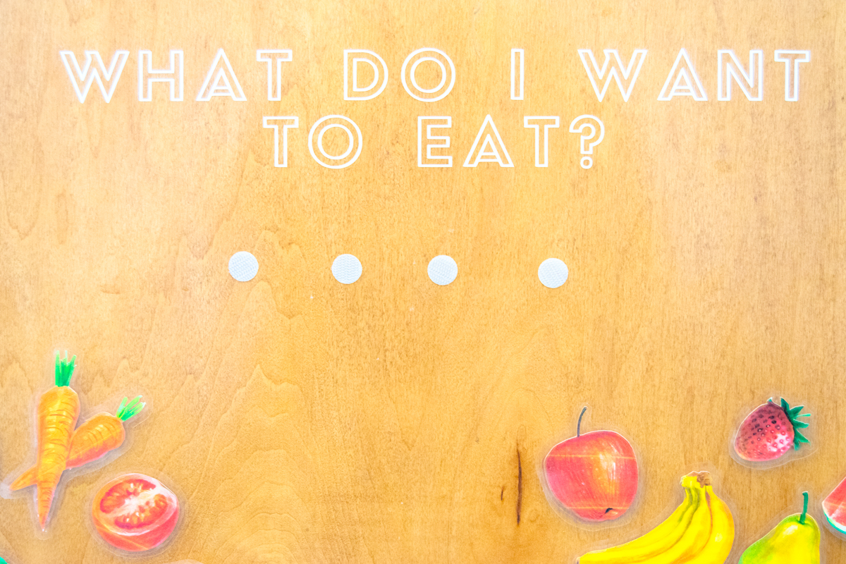 Speech Therapy Food Board for Toddlers with FREE Printables