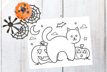 Free Halloween Printable | Halloween Cat Coloring Page