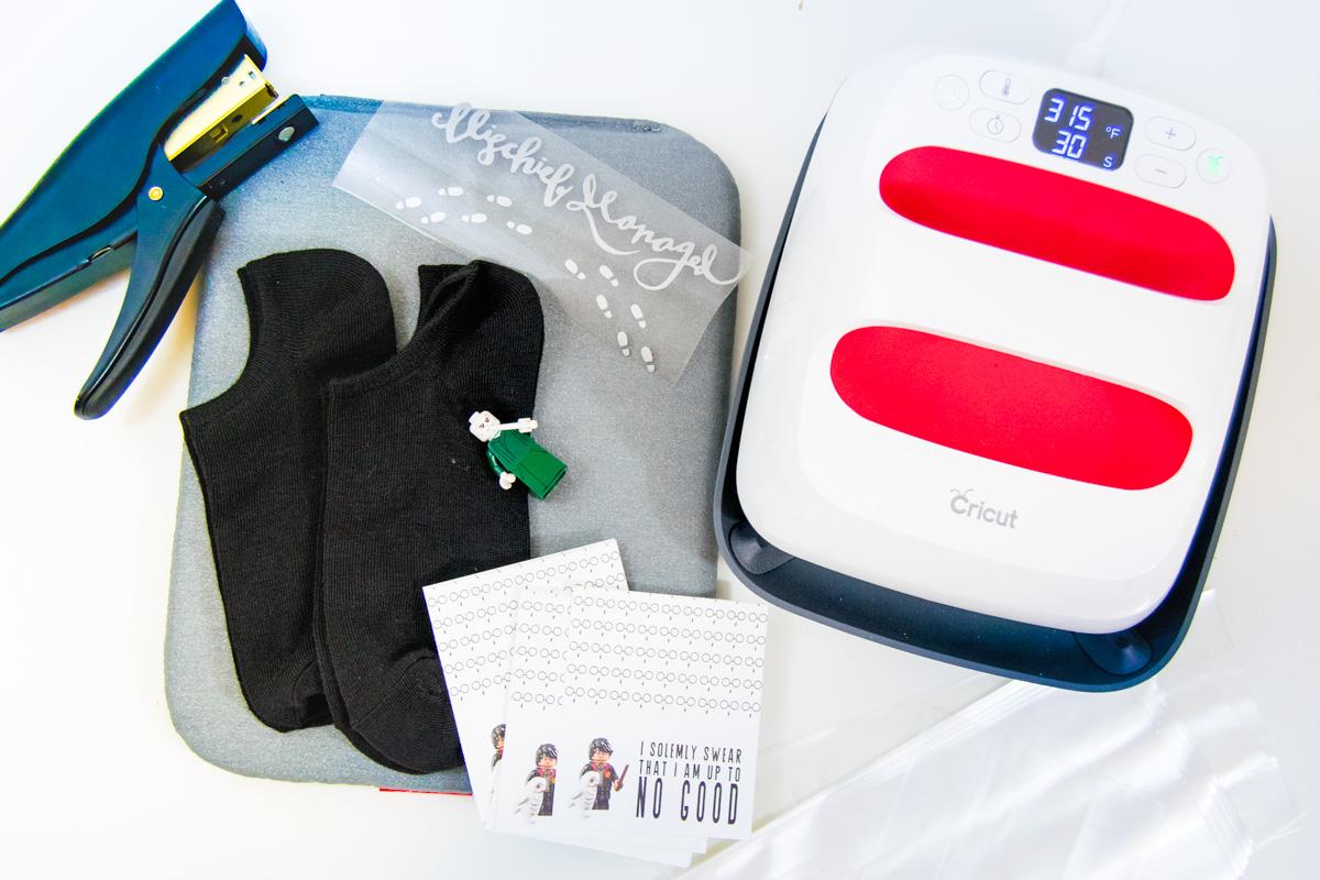 supplies for Harry Potter socks
