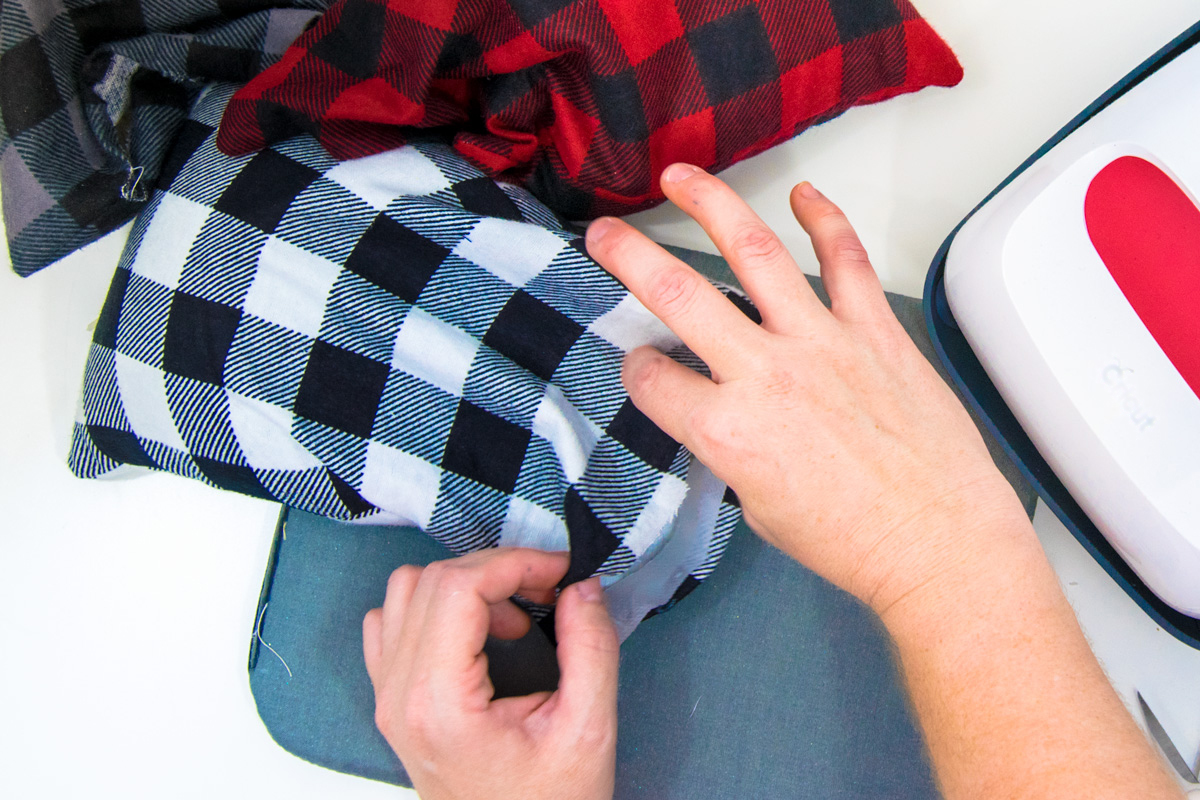 sealing flannel fabric together