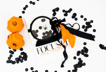 Teresa Collins halloween​ Journal with a Shaker Gift Tag