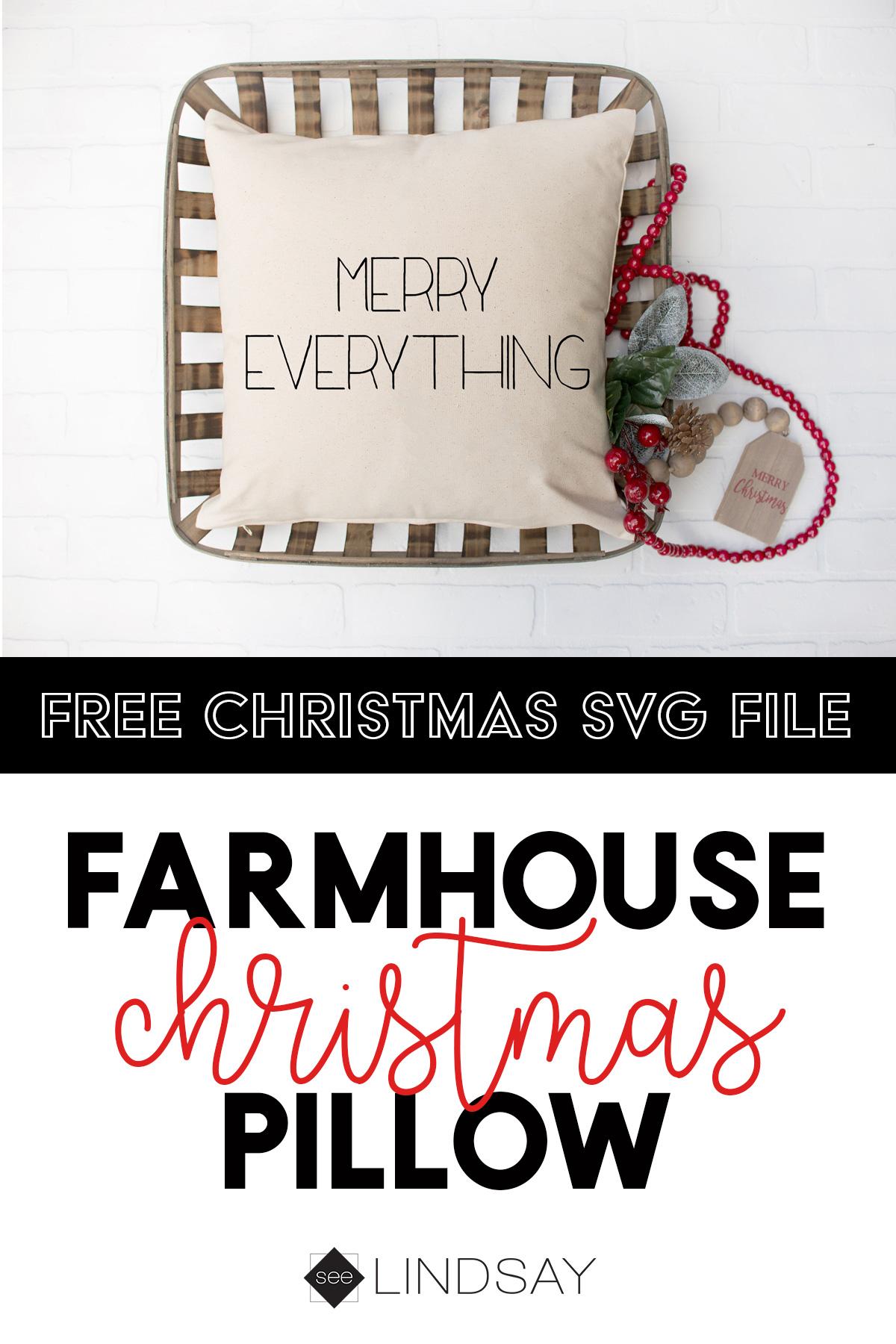 The Cutest Christmas Farmhouse Pillow Seelindsay