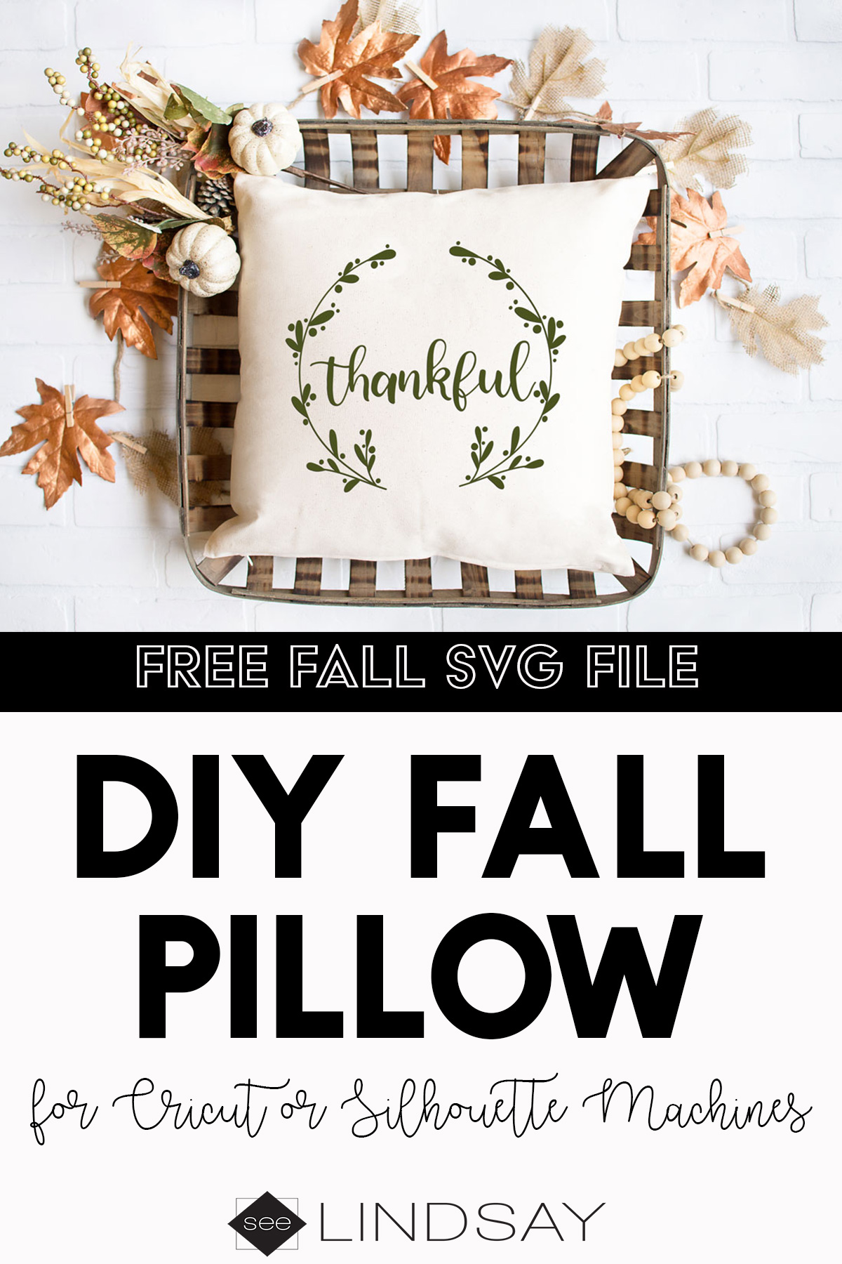 free thanksgiving svg pillow idea