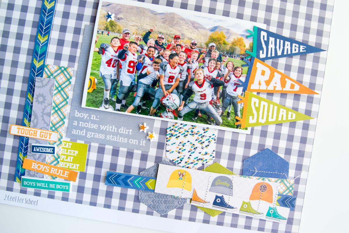 Football Scrapbook Page with Xyron & Jillibean Soup